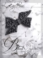 lacy bow-black & greyE-