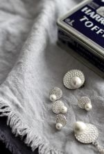One Point Pearl Pierce Earring & Brooch