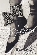 lacy bow-BLACK&WHITE-