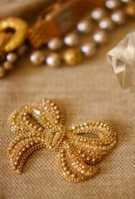 vintage ribbon gold
