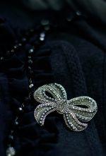 vintage ribbon silver